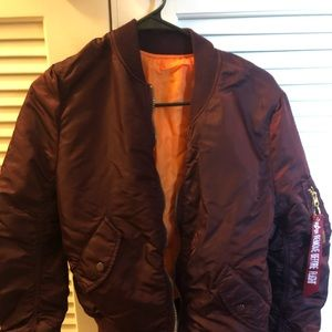 Alpha Industries Red Bomber Jacket